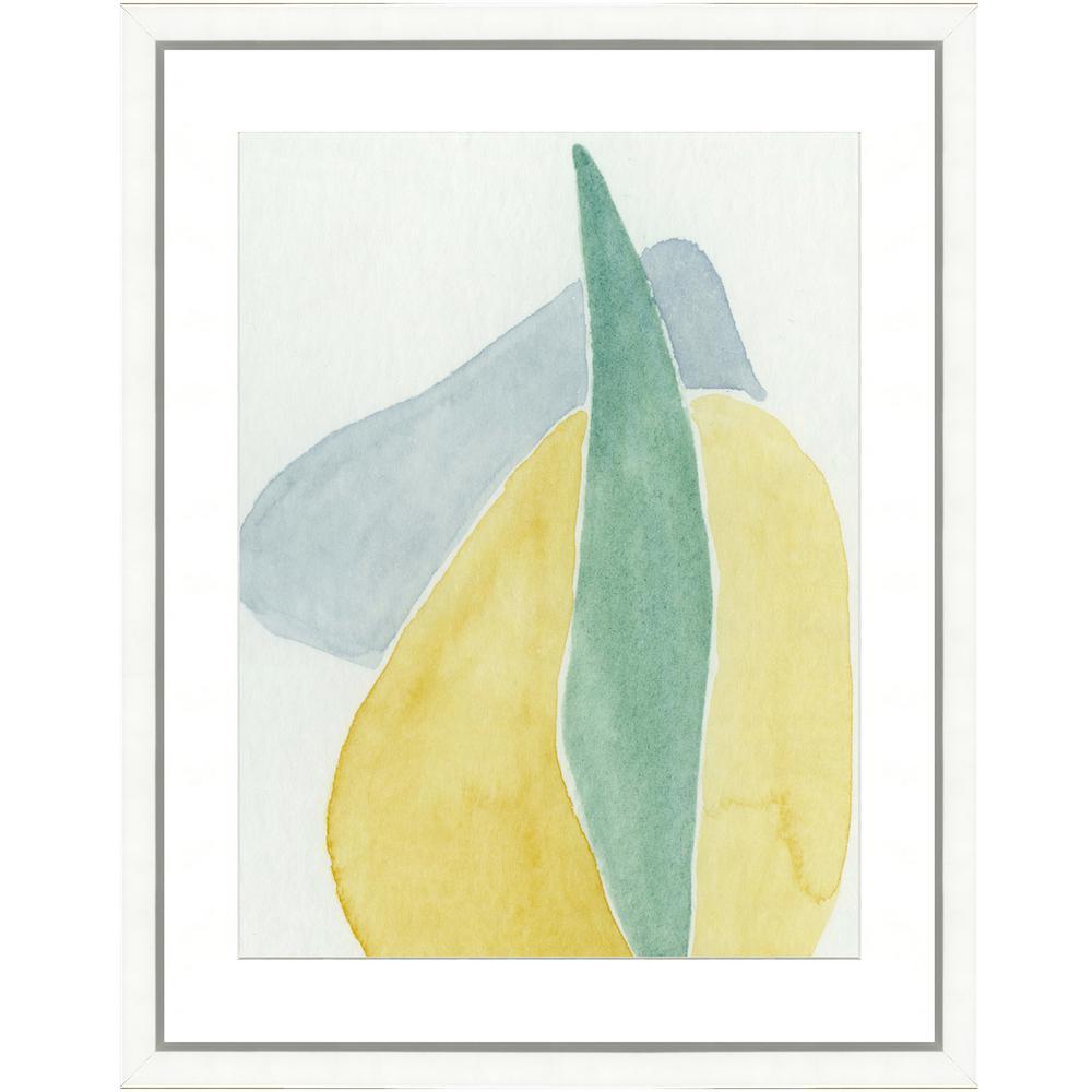 """""""Pastel watercolor II"""" Framed Archival Paper Wall Art (24 in. x 28 in. in full size)"""