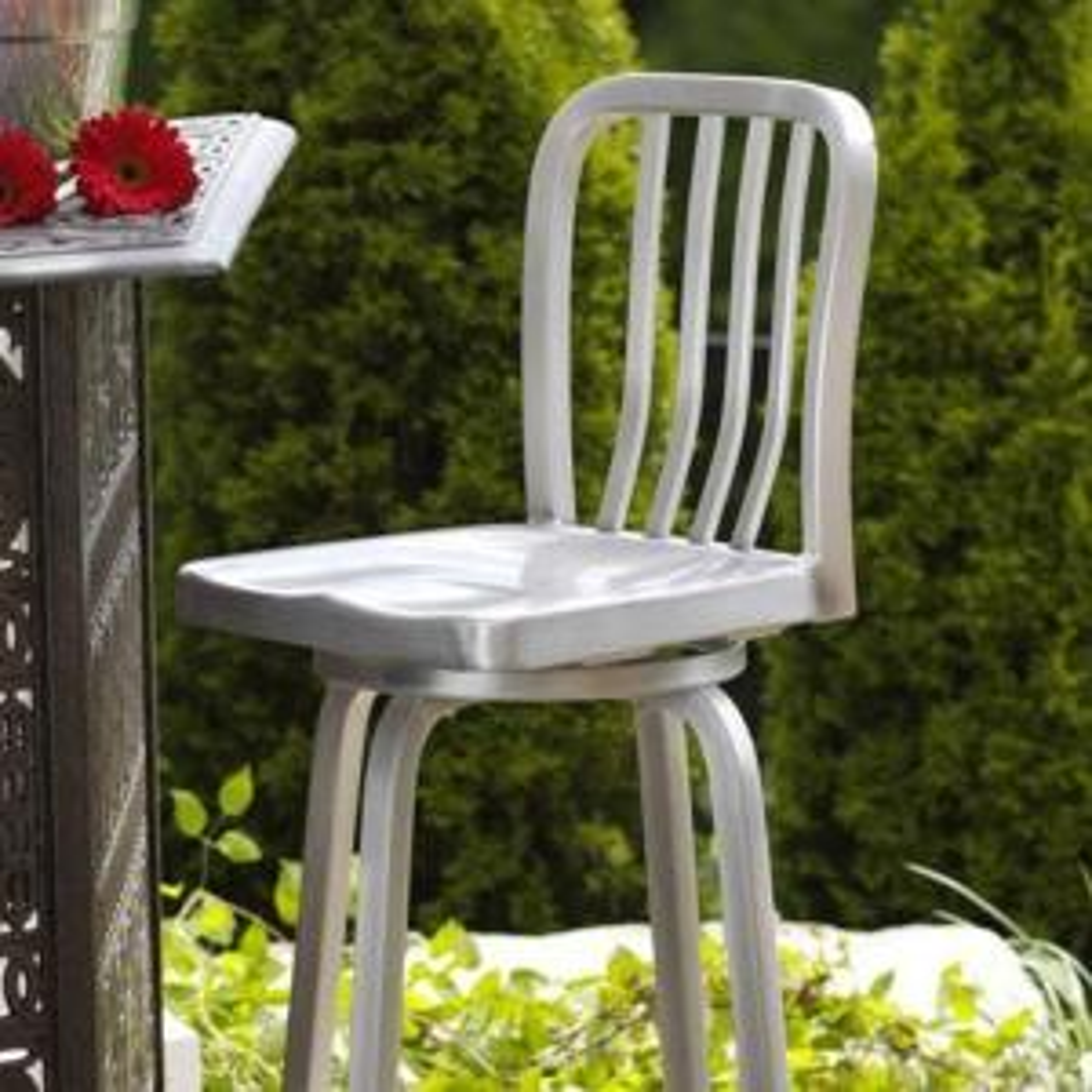 Cool Home Decorators Collection Sandra 30 In Brushed Aluminum Creativecarmelina Interior Chair Design Creativecarmelinacom