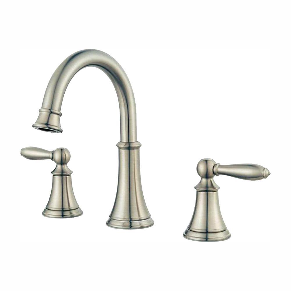 Courant 8 in. Widespread 2-Handle Bathroom Faucet in Brushed Nickel