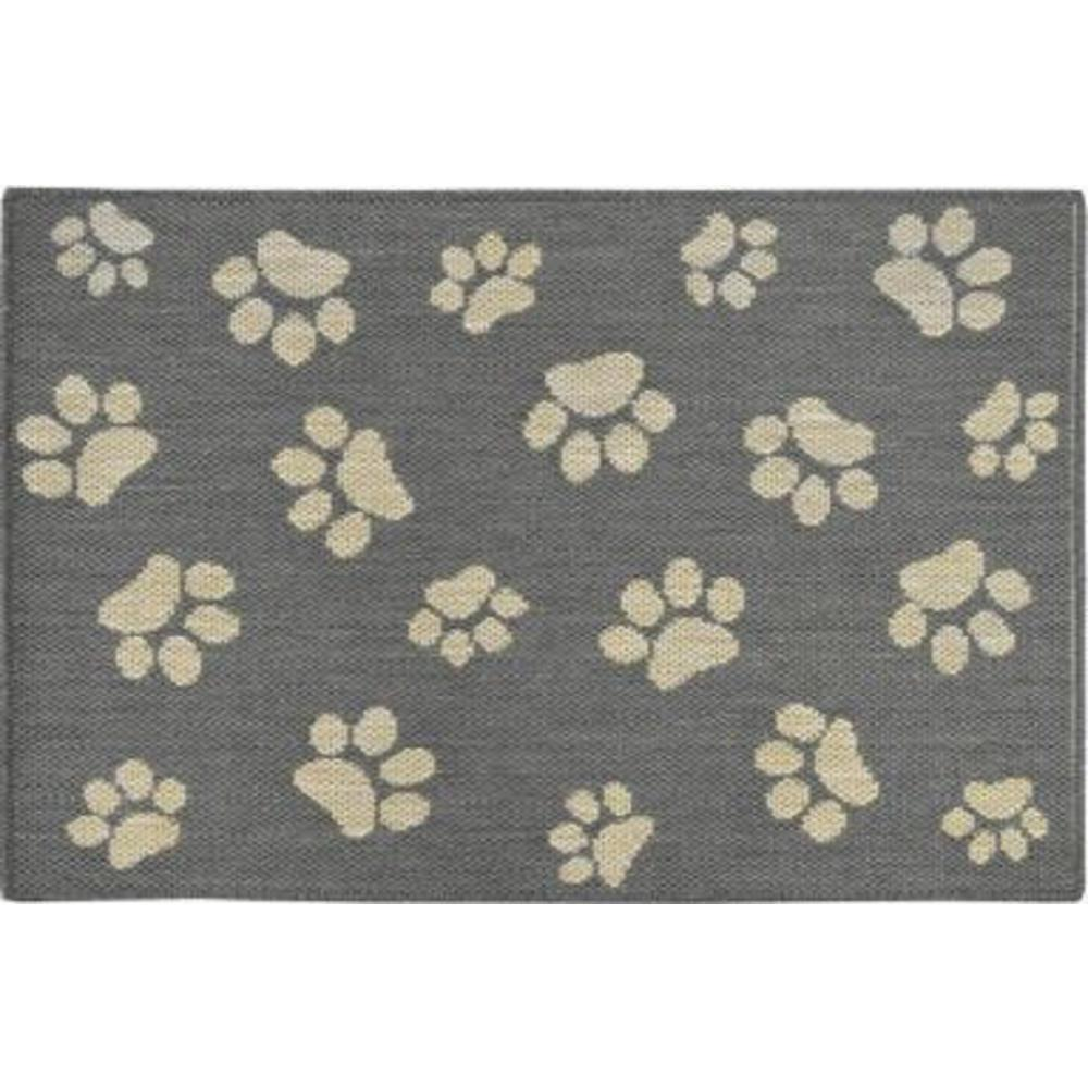 Home Dynamix Comfy Pooch Gray Tan Paw 23 6 In X 35 4 In Pet Mat 4