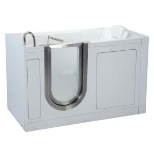 Ella Deluxe 4.58 ft. x 30 inch Acrylic Walk-In Soaking Bathtub in White with... by Ella