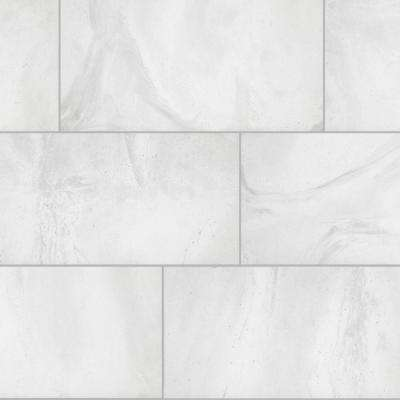 Stonewall White Rectified 12 in. x 24 in. Porcelain Floor and Wall Tile (13.3 sq. ft./ case)