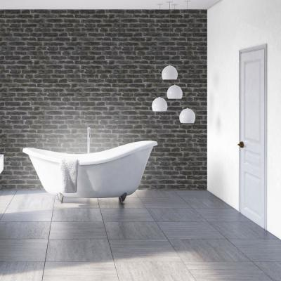 Strata Industry Black Removable Wallpaper