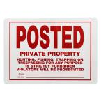 10 in. x 14 in. Aluminum Posted No Trespassing Sign