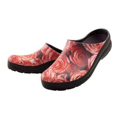 Women's Roses Picture Clogs - Size 9