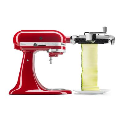 White Vegetable Sheet Cutter Attachment