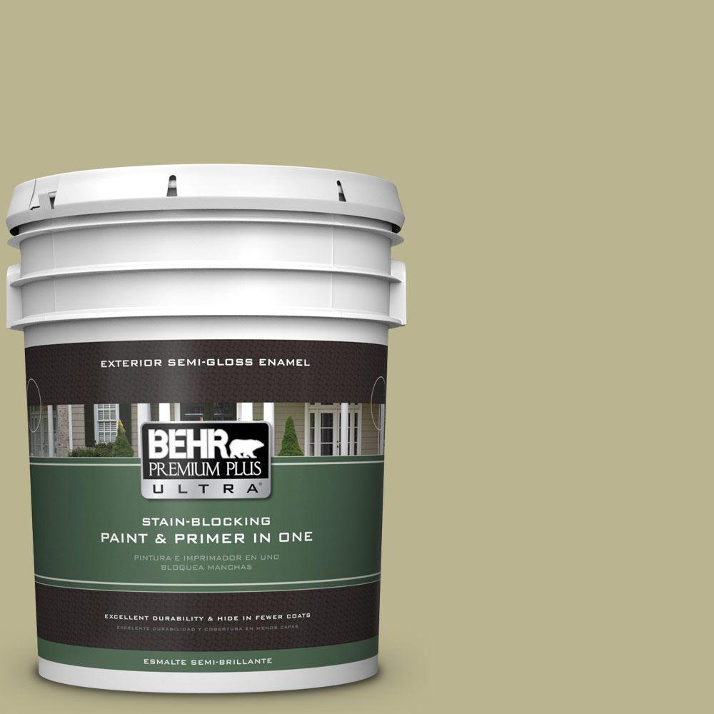 BEHR Premium Plus Ultra 5-gal. #PPU9-10 Wasabi Powder Semi-Gloss Enamel Exterior Paint