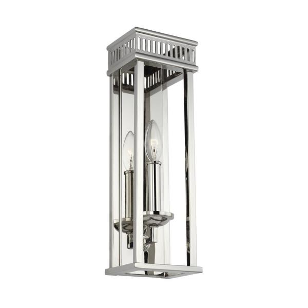 Woodruff 3.375 in. 1-Light Polished Nickel Sconce