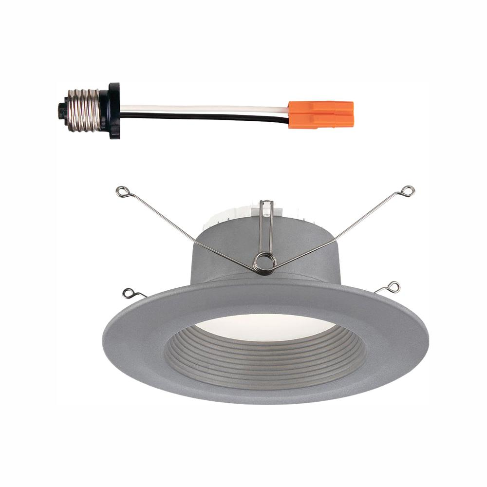 Envirolite 6 In Brushed Nickel Trim Integrated Led Recessed Ceiling Light 3000k 90 Cri 670 Lumens