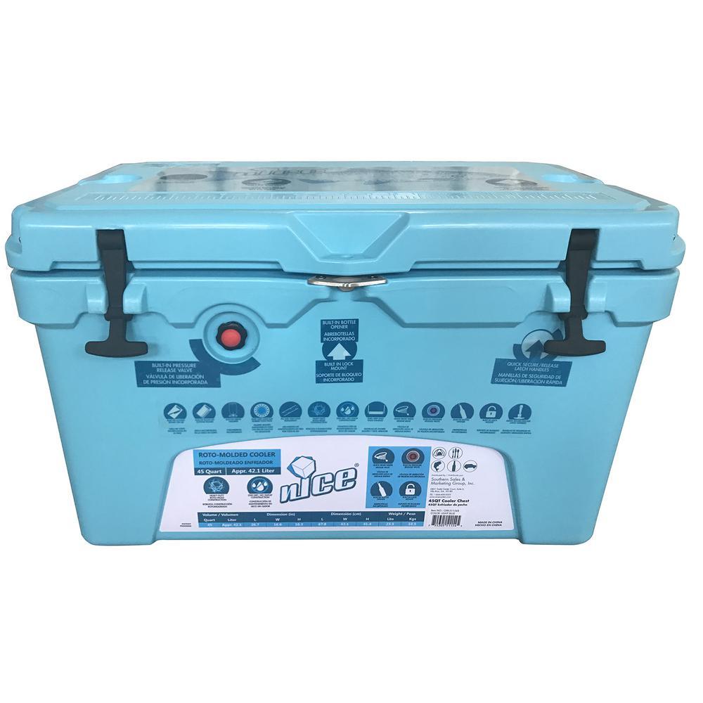 45 qt. Ice Blue Cooler