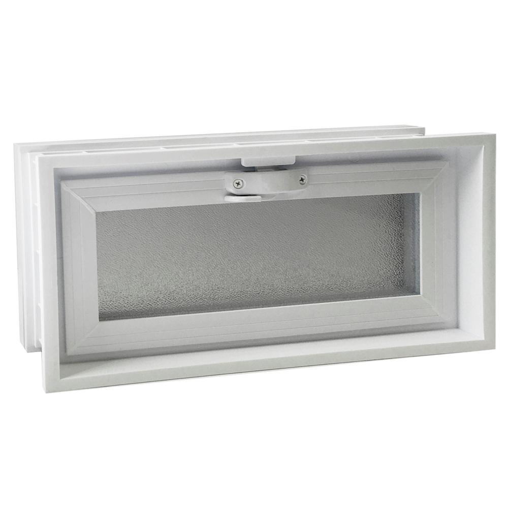 15-3/4 in. x 7-3/4 in. Convertible Universal Hopper Vent in White