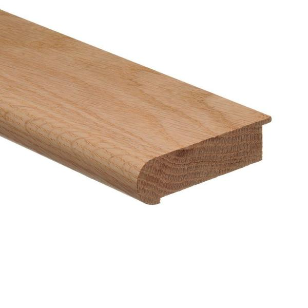 Unfinished Red Oak 3/4 in. Thick x 2-3/4 in. Wide x 94 in. Length Wood Stair Nose Molding Flush