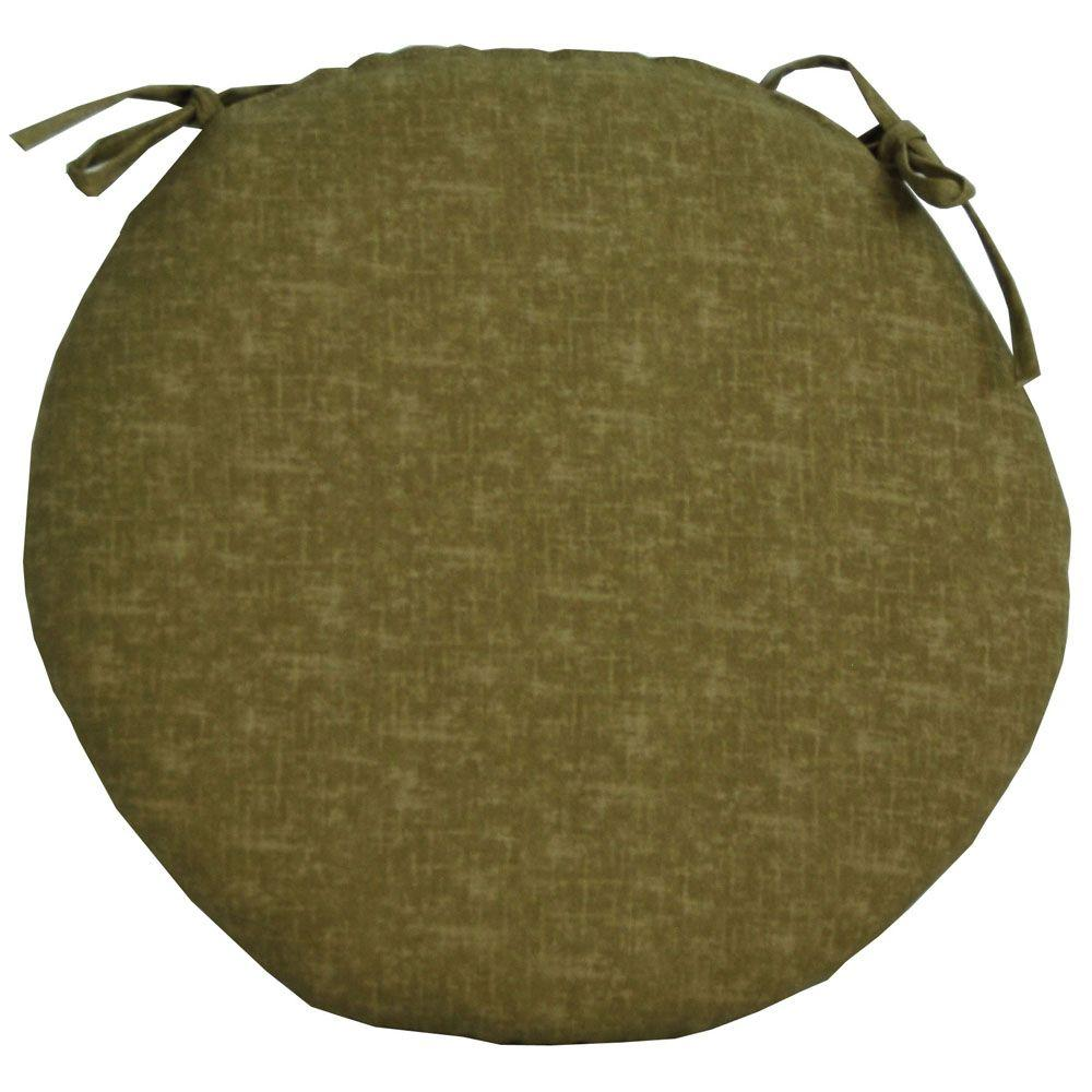 null Barts Textured Sand Outdoor Bistro Seat Cushion-DISCONTINUED