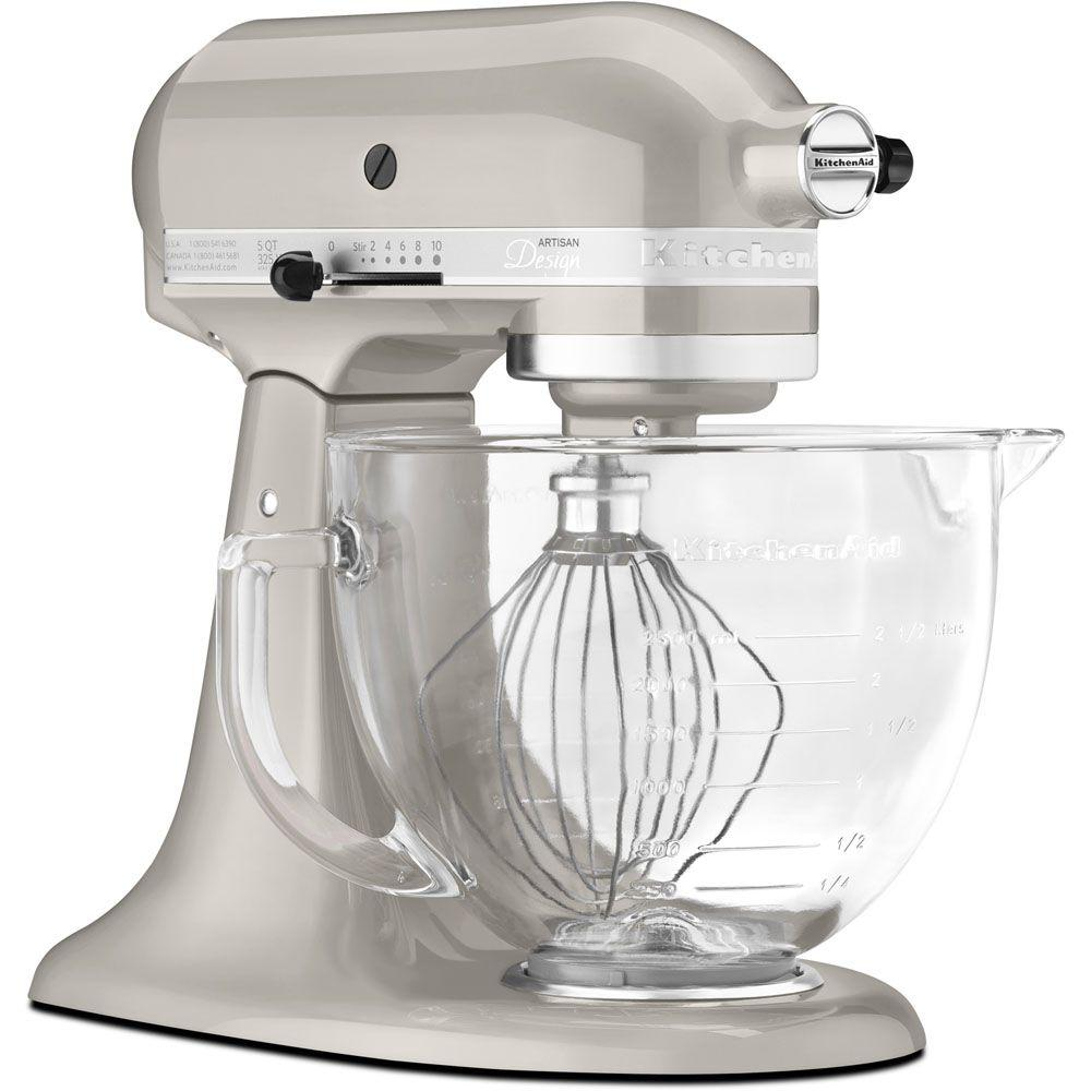 Artisan Designer 5 Qt. Sugar Pearl Silver Stand Mixer Stainless Look With  Bowl 8856623444521 | EBay