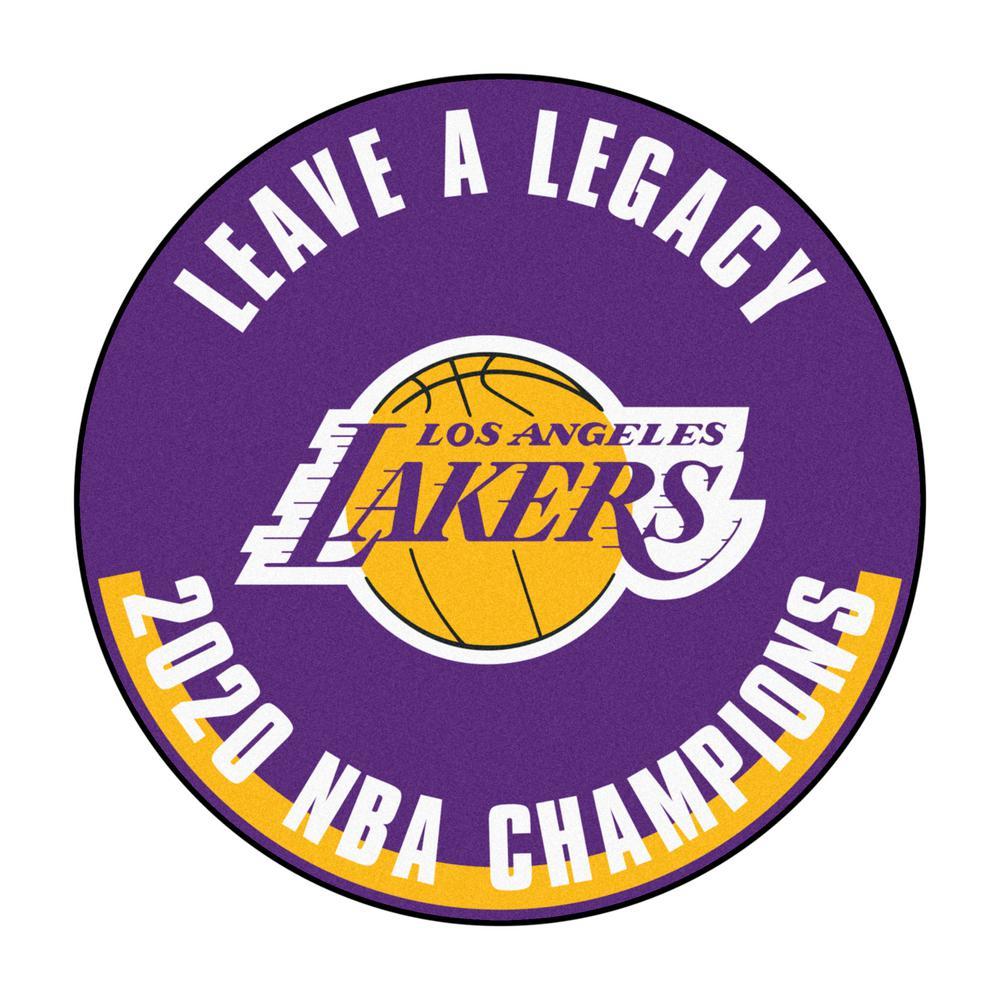 NBA - Los Angeles Lakers 2020 NBA Finals Champions Basketball Rug - 27in. Diameter