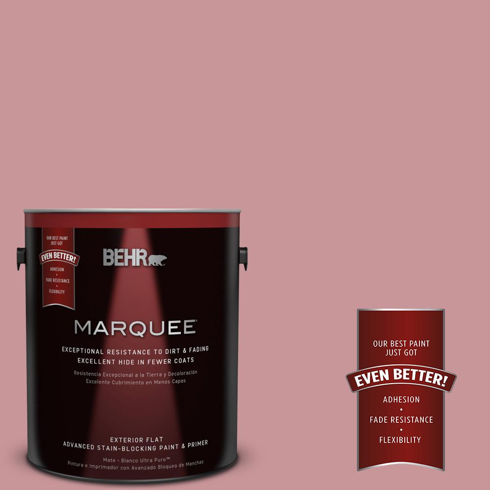 BEHR MARQUEE 1-gal. #S140-4 Minstrel Rose Flat Exterior Paint