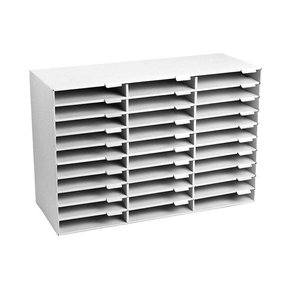 AdirOffice AdirOffice 30-Slot White Classroom File Organizer