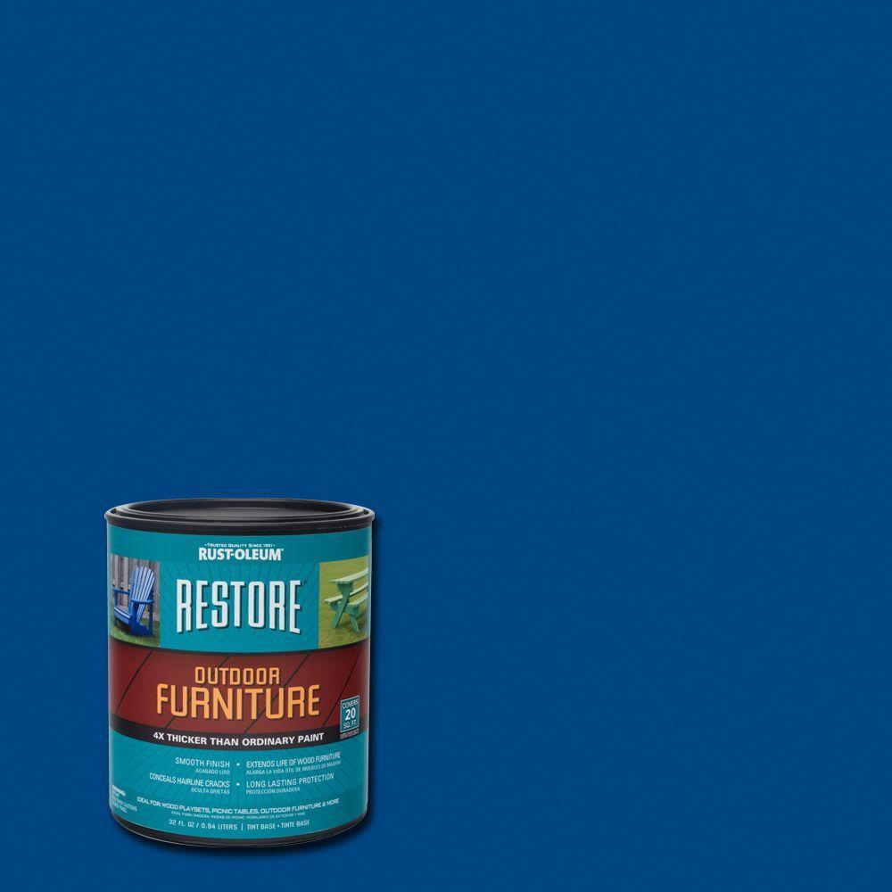 Rust-Oleum Restore 1- qt. Deep Blue Outdoor Furniture Exterior Solid Stain