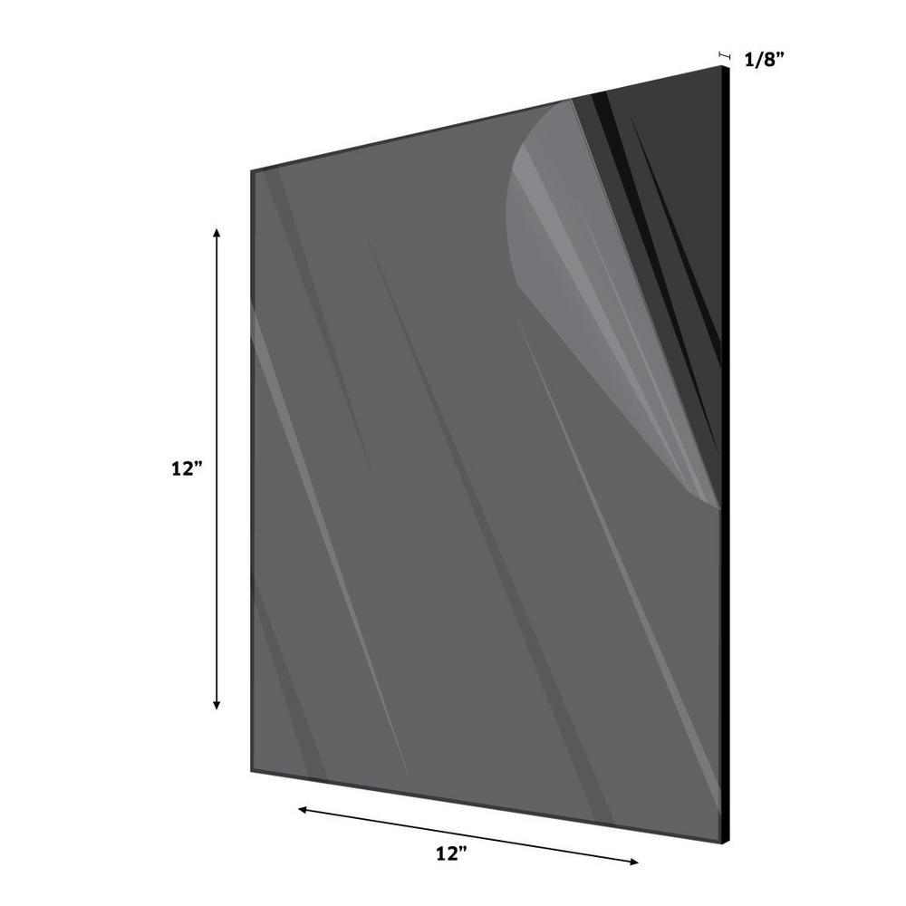 12 in. x 12 in. x 1/8 in. Black Opaque Plexiglass Acrylic Sheet (6-Pack)