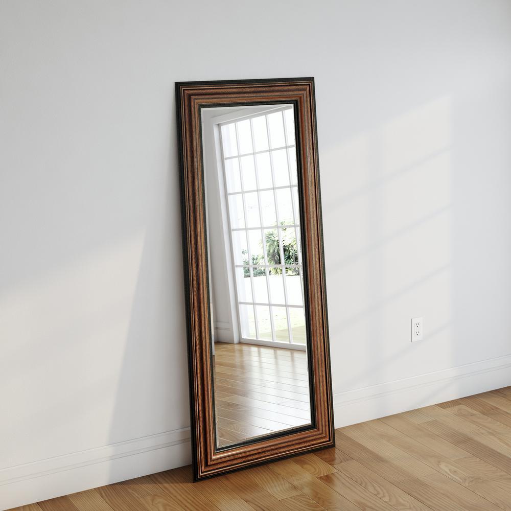 30.5 in. x 71 in. Canyon Bronze Beveled Oversized Full Body