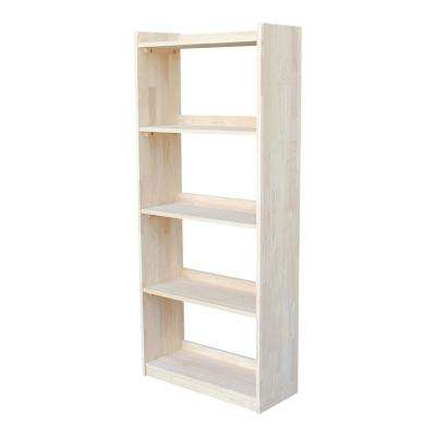 Abby 62 in. H Unfinished Bookcase