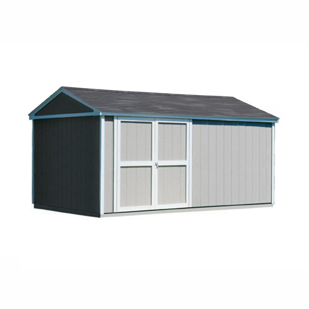 Handy Home Products Somerset 10 ft. x 16 ft. Wood Storage Building Kit with Floor