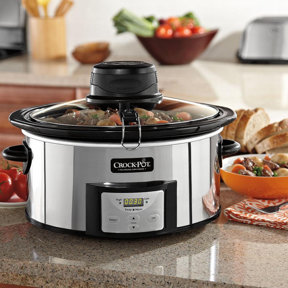 Crockpot 6 Qt. Digital Slow Cooker with Istir Stirring Sy...