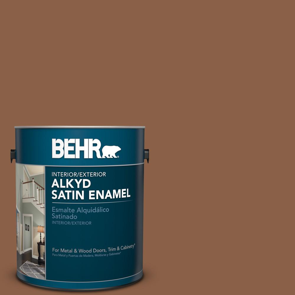 1 gal. #S240-7 Leather Work Satin Enamel Alkyd Interior/Exterior Paint