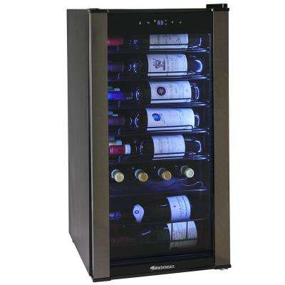 28 Bottle Black with VinoView Shelf
