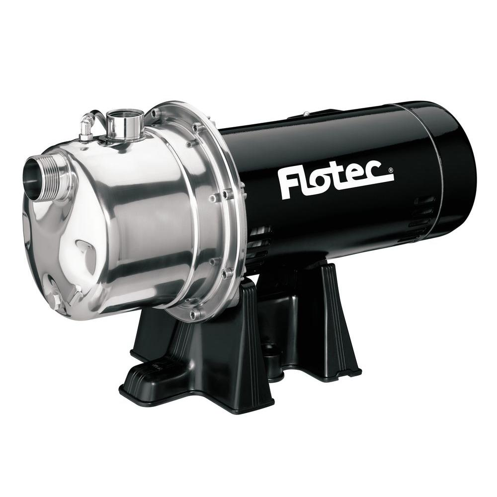Flotec 3/4 HP Shallow Well Stainless Steel Jet Pump