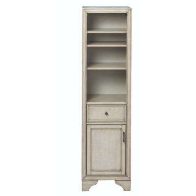 Hazelton 18 in. W x 15 in. D x 67-1/2 in. H Bathroom Linen Cabinet in Antique Grey