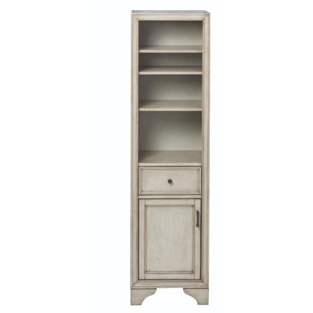 Hazelton 18 in. W x 15 in. D x 67-1/2 in. H Bathroom Linen Cabinet in Antique Grey