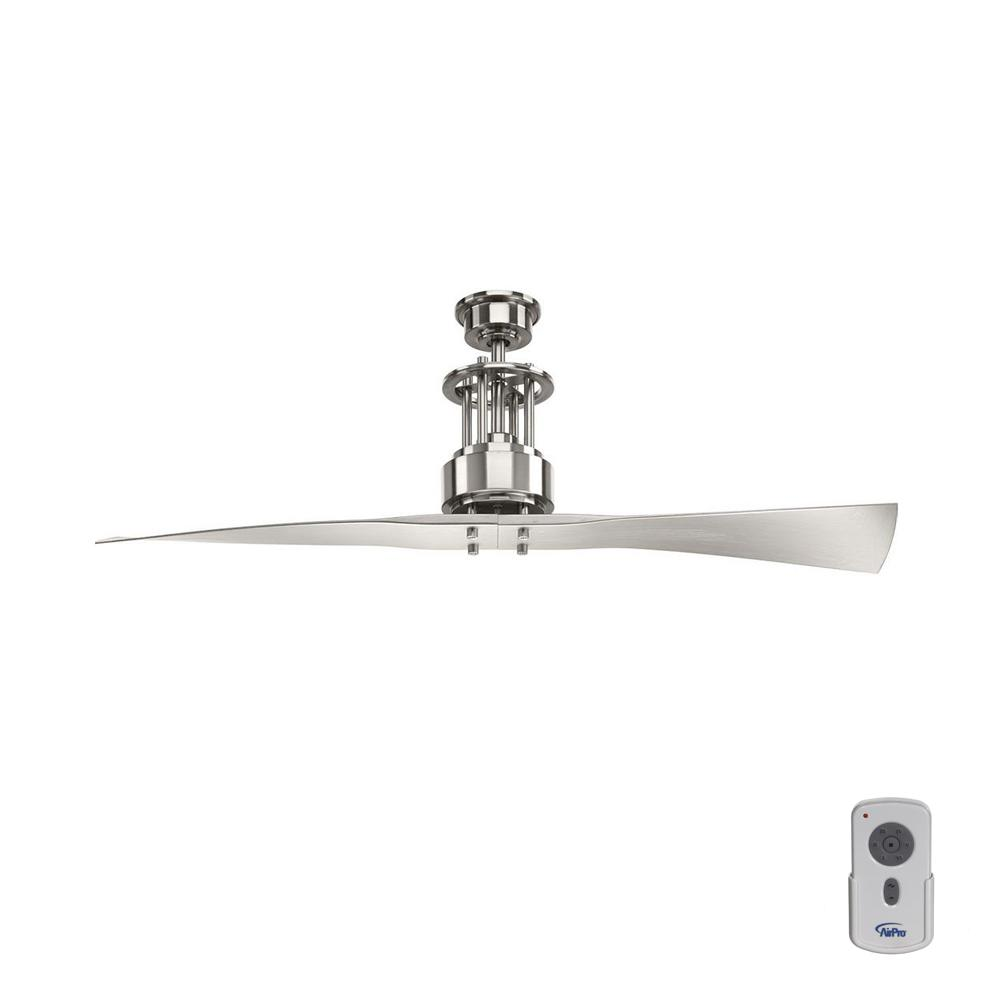 Progress Lighting Spades 56 In Indoor Brushed Nickel Modern Ceiling Fan With Remote P2570 09 The Home Depot
