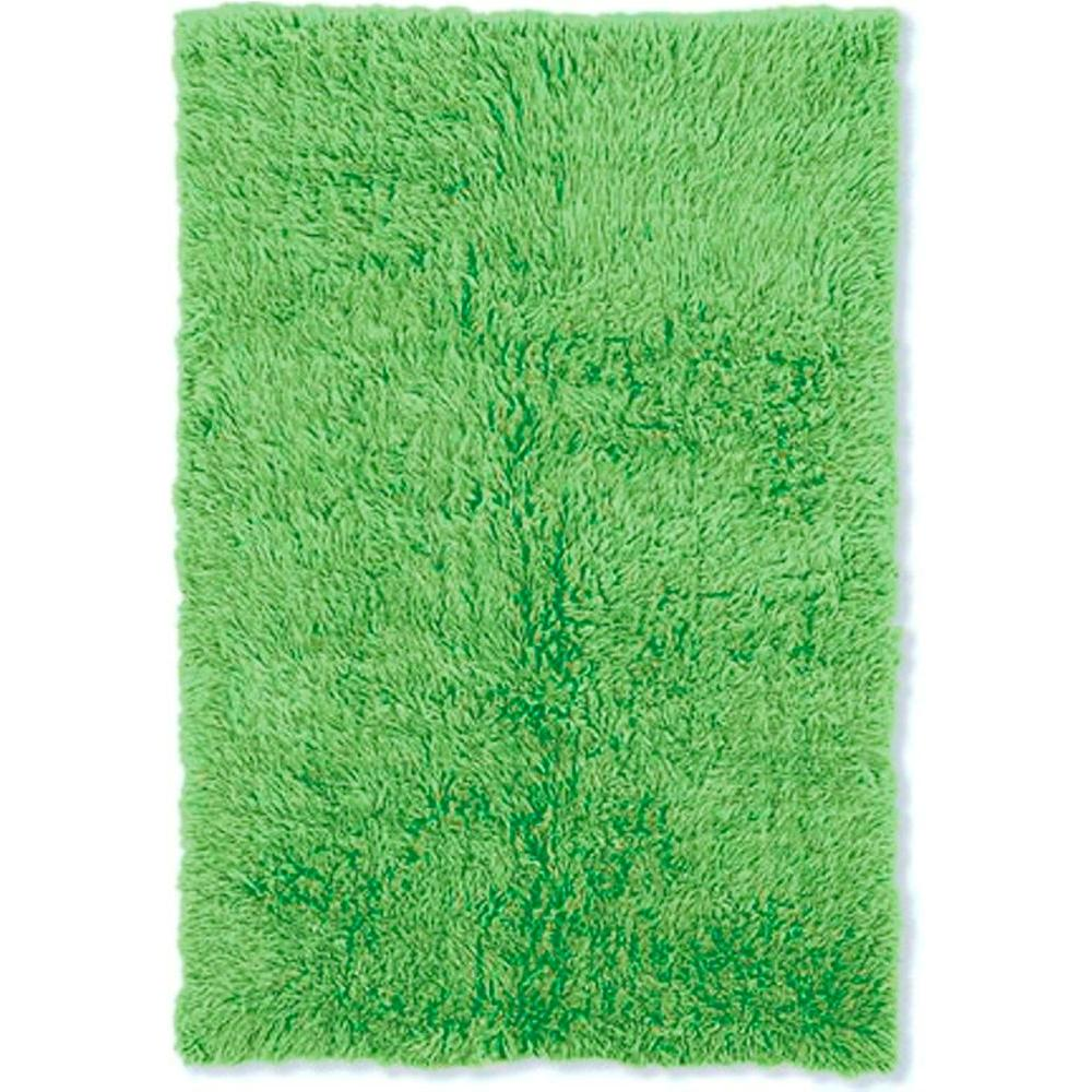 Linon home decor new flokati lime green 5 ft x 8 ft area for Lime green home decorations