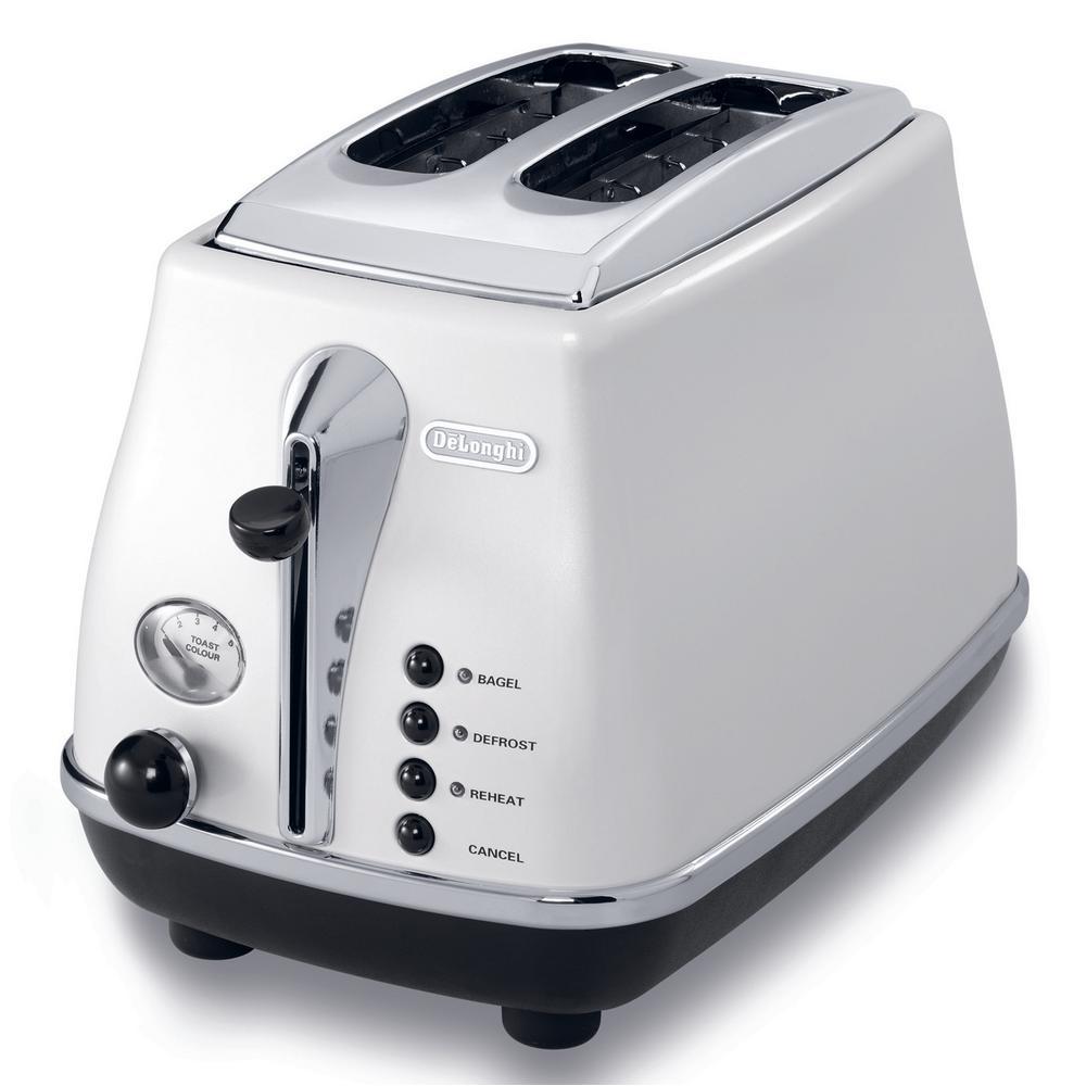 Icona 2-Slice White Toaster