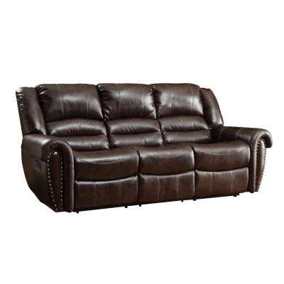 Merida Chocolate Leather Sofa