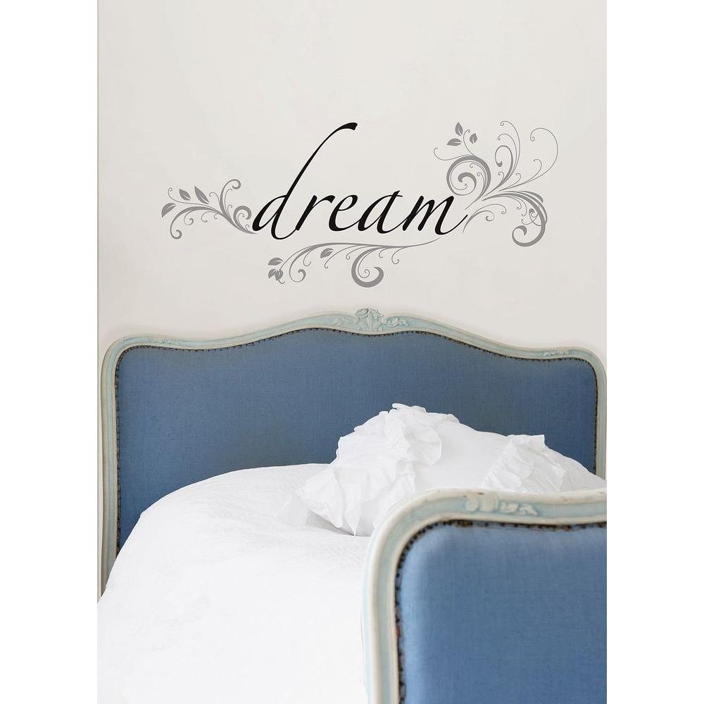 3.5 in. x 2 in. Dream Quote Wall Decal