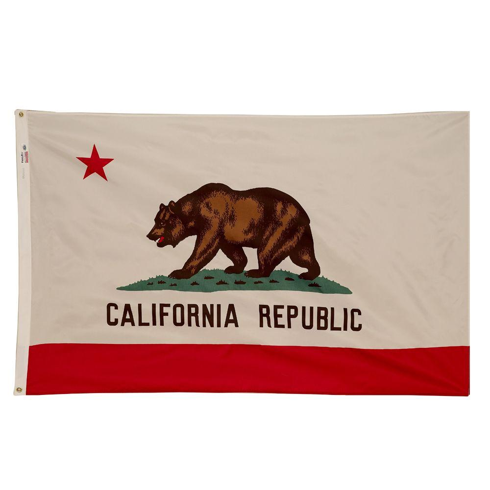 Valley Forge Flag 3 ft. x 5 ft. Nylon California State Flag