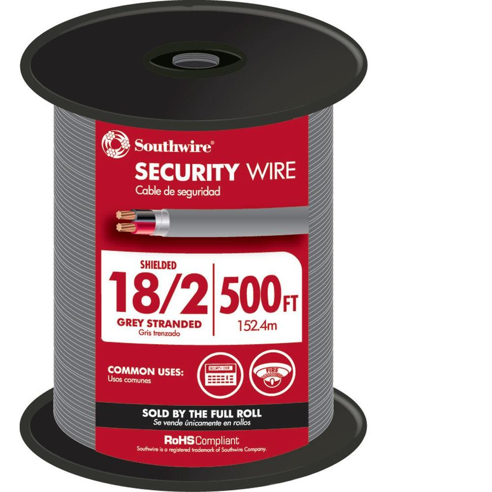 Southwire 500 ft. 18-2 Shielded Security Cable