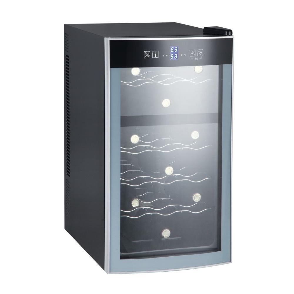 Avanti 18 Bottle Wine Cooler In Black Ewc18n2pd The Home