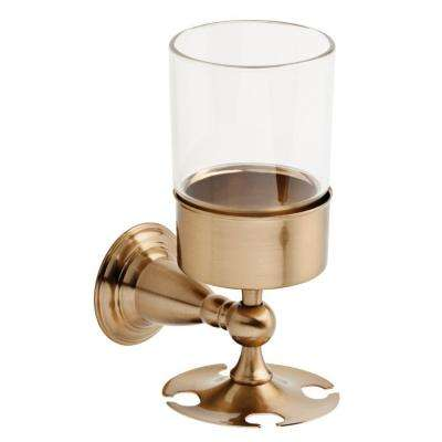 Victorian Wall-Mounted Toothbrush Holder in Champagne Bronze