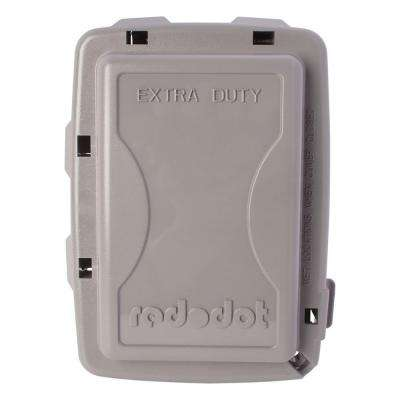 1-Gang Extra Duty Non-Metallic While-In-Use Weatherproof Horizontal/Vertical Receptacle Cover - Gray (Case of 8)