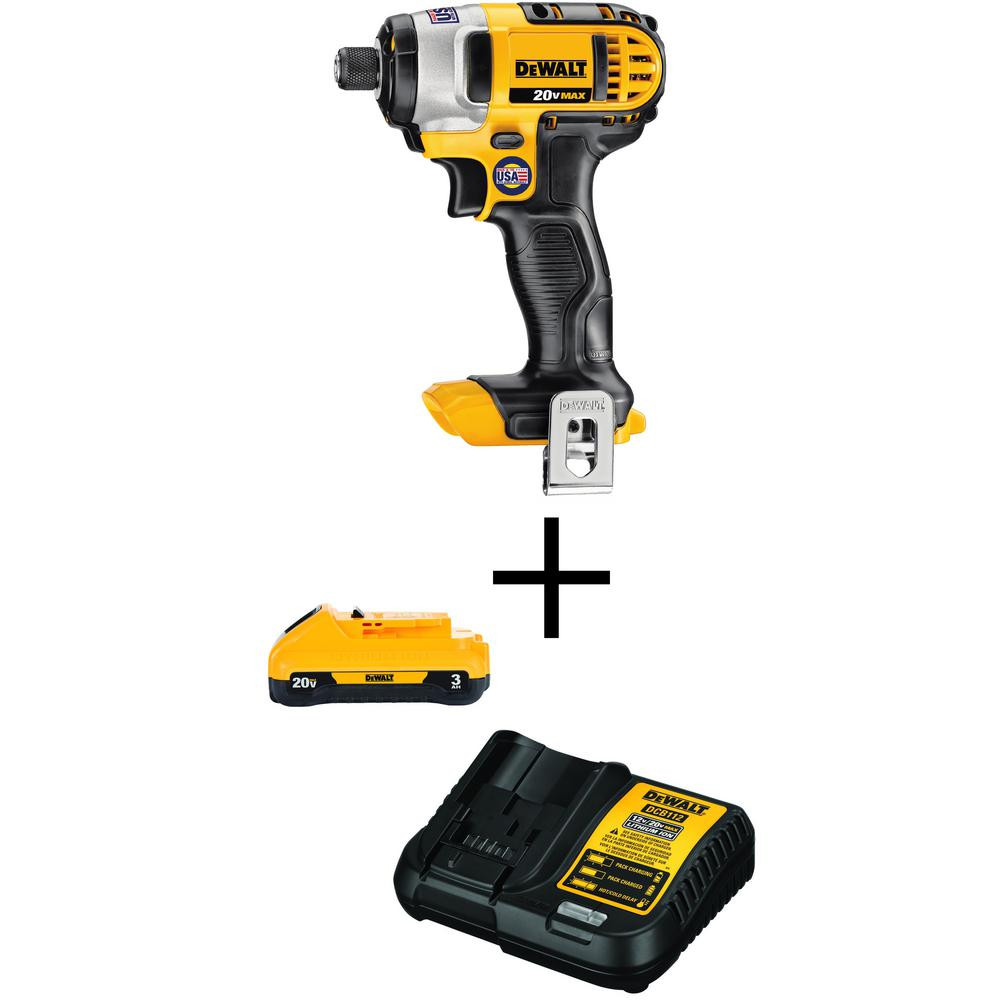 DEWALT 20-Volt MAX Lithium-Ion Cordless 1/4 in. Impact Driver (Tool-Only) with Free 20-Volt MAX Battery 3.0Ah & Charger was $249.0 now $129.0 (48.0% off)