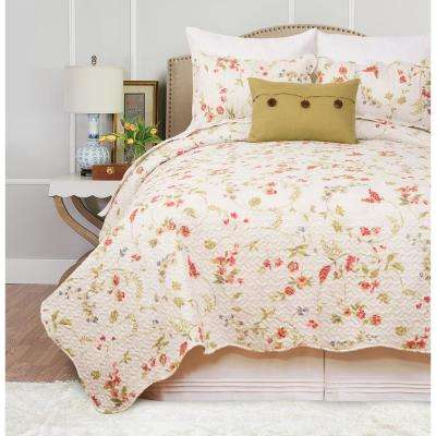 Abigail White Full/Queen Quilt Set
