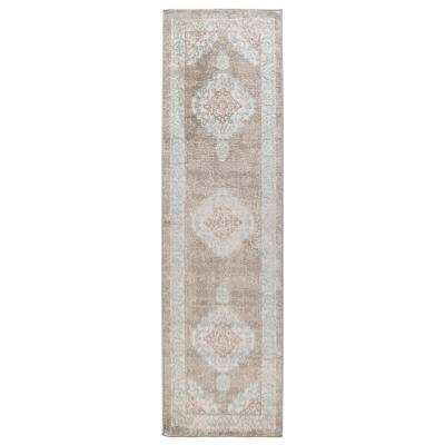 Tranquility Moonrock / Light Blue 2 ft. x 7 ft. Indoor Runner Rug