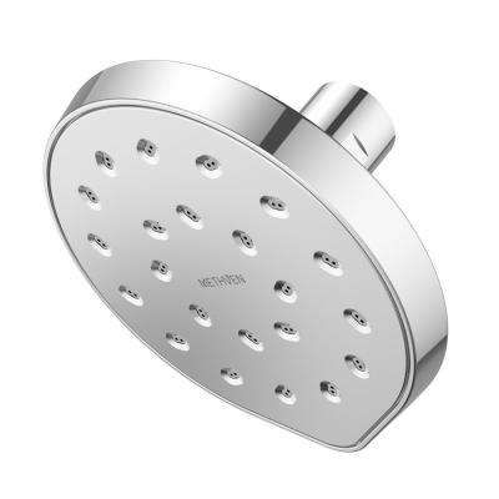 Kiri 1-Spray 6 in. Single Wall Mount Fixed Shower Head in Chrome