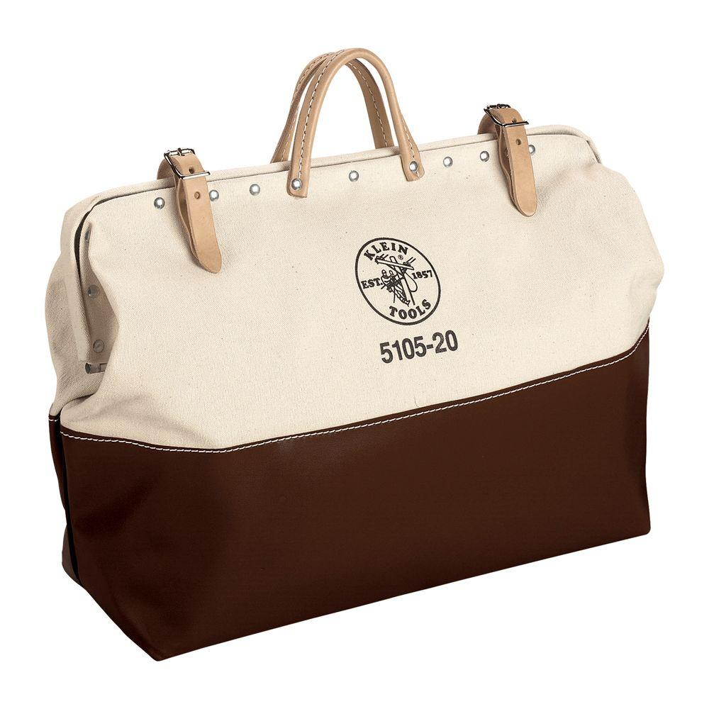 KleinTools Klein Tools 6 in.High-Bottom Canvas Tool Bag, Tan/Brown