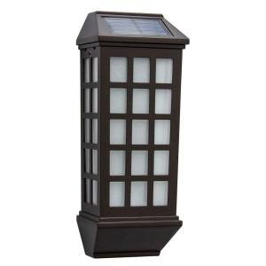 Hampton Bay Mission Style Bronze Outdoor Integrated Led