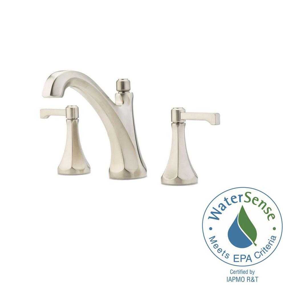 pfister arterra 8 in. widespread 2-handle bathroom faucet in
