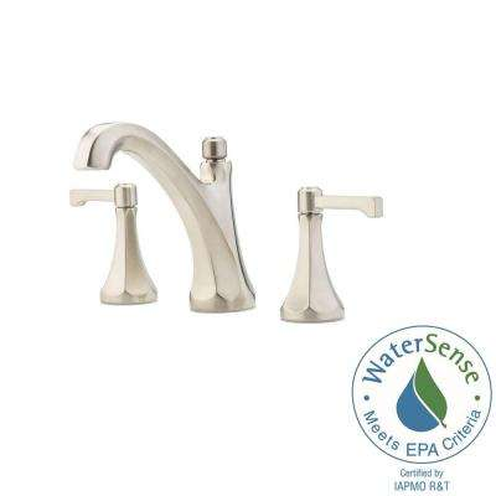 Arterra 8 in. Widespread 2-Handle Bathroom Faucet in Brushed Nickel